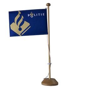 Politie tafelvlag met standaard