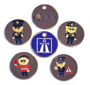 Winkelwagenmuntje Politie div. voorbeelden