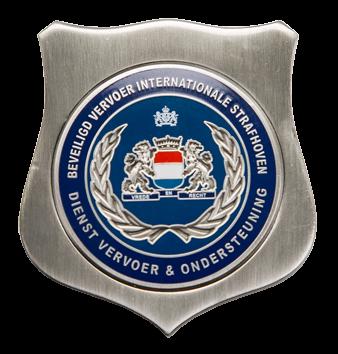 Baret embleem Beveiligd Vervoer Internationale Strafhoven