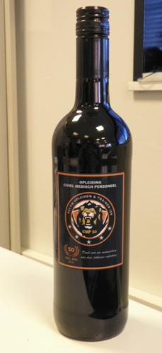 Wijnflessen met bedrukt etiket (rode en witte wijn )