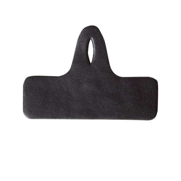Lederen zwarte borstzakhanger voor naambadges