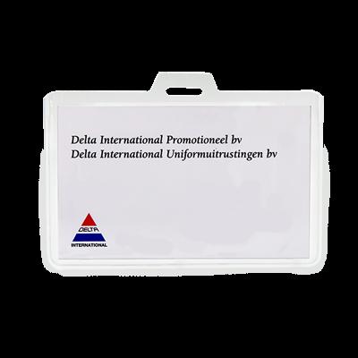 Naambadge kunststof transparant congres DEL32