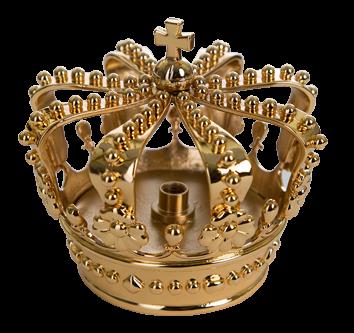 Kroon t.b.v. vlaggenstok ( Verguld )
