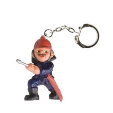 Brandweer sleutelhanger brandweerman